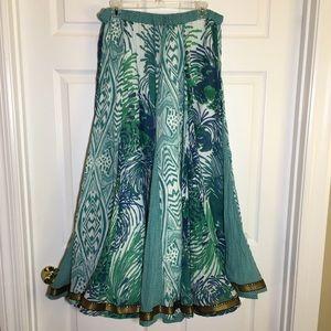 Peppermint Bay Printed Circle Maxi Skirt